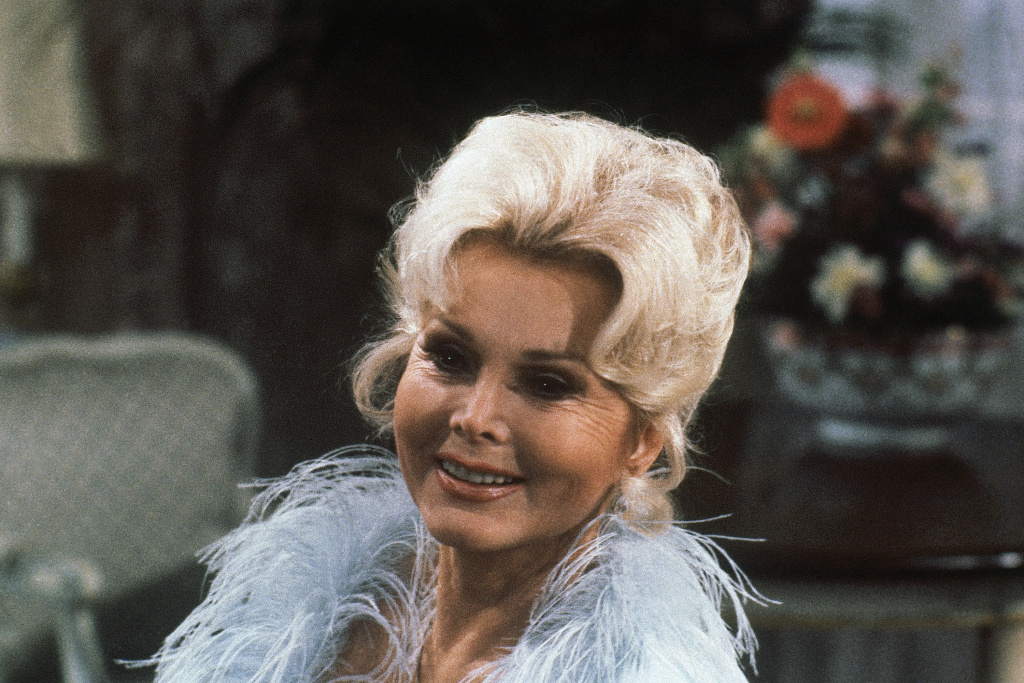 Photo of Hungarian-American actress Zsa Zsa Gabor taken during rehearsal for CBS-TV's