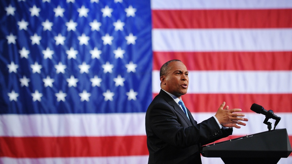 Former Massachusetts Governor Deval Patrick, pictured above at a 2011 fundraiser, announced this week he would not seek the presidency.