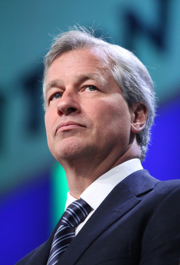 James Dimon, Chairman and CEO of JP Morgan Chase, attends a panel on finance at the Clinton Global Initiative in New York City.