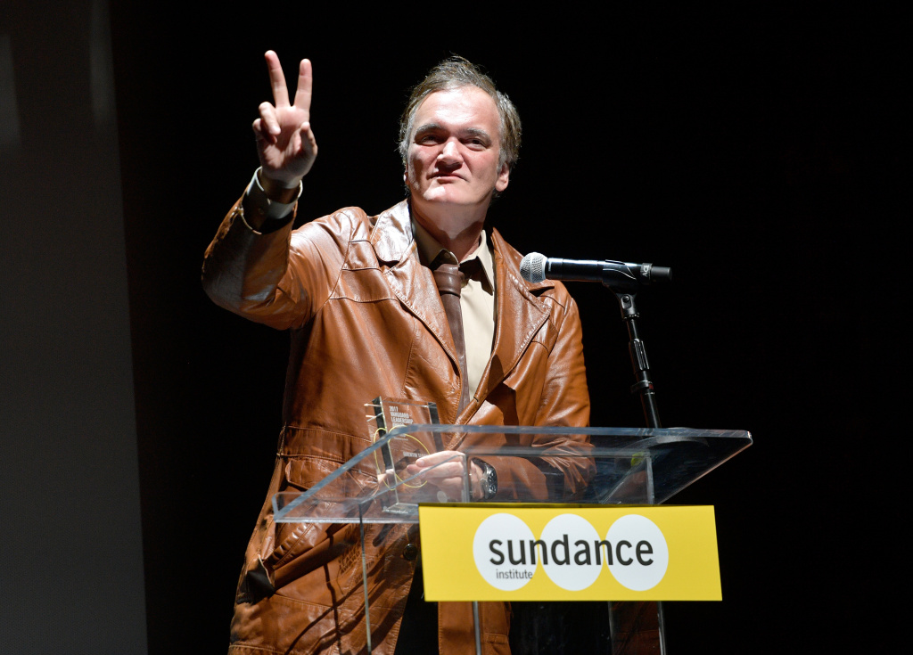 Quentin Tarantino speaks onstage at Sundance NEXT FEST After Dark at The Theater at The Ace Hotel on August 10, 2017 in Los Angeles, California.