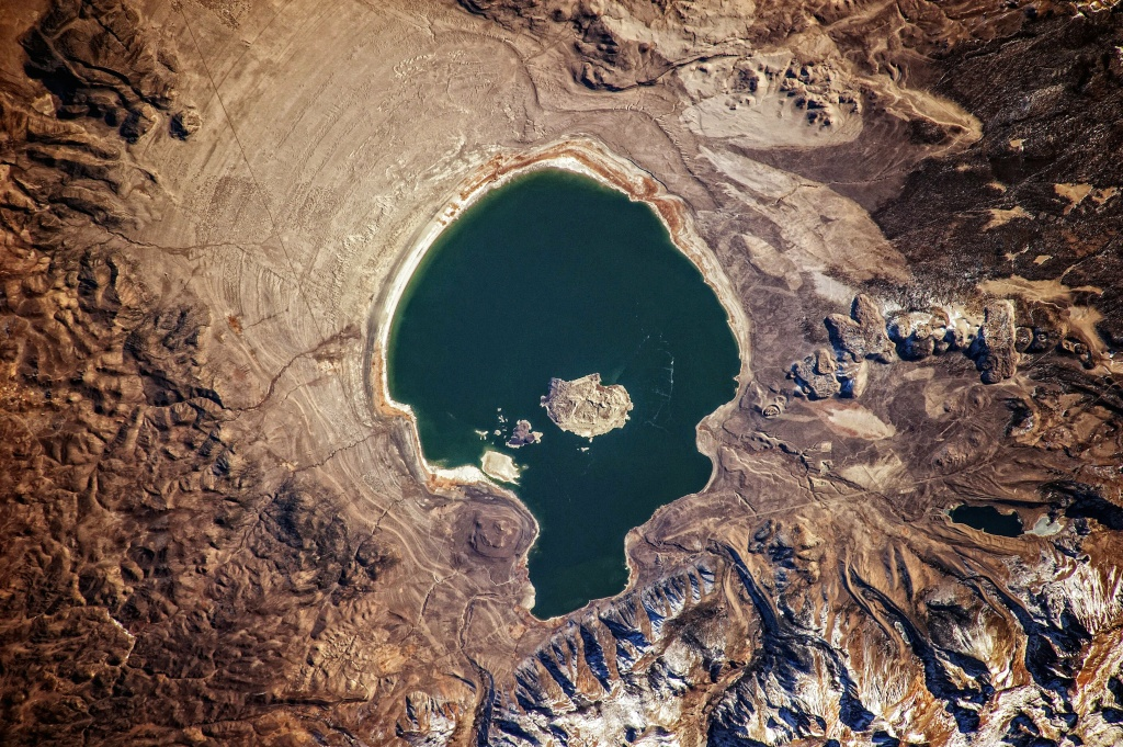 Mono Lake, from the sky.