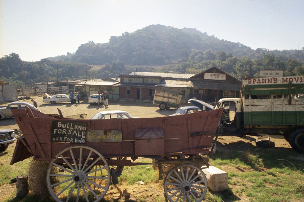 The Spahn movie ranch near Chatsworth, shown on Dec. 11, 1969. This is where Charles Manson and his
