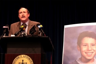 Riverside County District Attorney Paul Zellerbach speaks to reporters on March 15, 2011, after accepting a plea deal from attorneys for convicted killer Joseph Duncan.