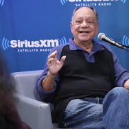 "Cheech Marin discusses his new memoir at the SiriusXM ""Town Hall"" series with host Ron Bennington at SiriusXM Studios on March 15, 2017 in New York City."