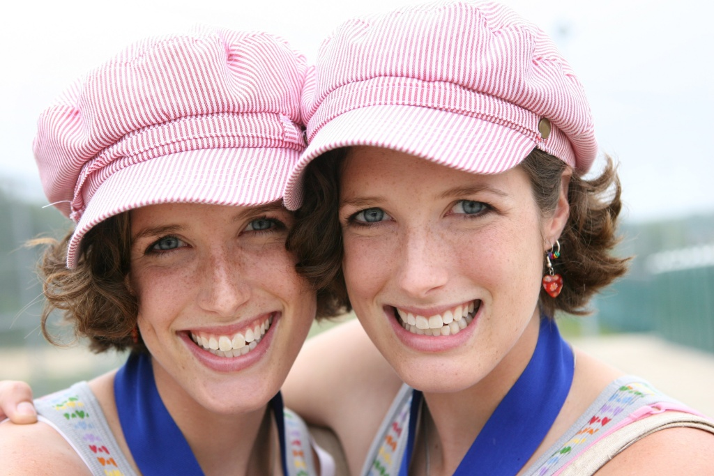 Twin sisters Lisa and Julie York pose for a picture during Twins Days on August 5, 2007 in Twinsburg, Ohio. The annual event is recorded as the largest annual gathering of twins in the world.