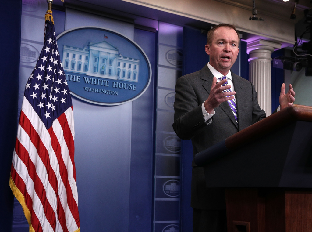 White House Budget Director Mick Mulvaney answers questions regarding the budget proposal from the Trump Administration during a White House daily briefing on February 27, 2017.