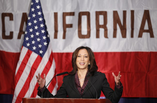 California Attorney General Kamala Harris gives her first news conference in Los Angeles on Tuesday, Nov. 30, 2010. Republican Steve Cooley conceded the California attorney general's race to Democrat Harris last week, giving Democrats a sweep of all statewide offices and ushering in the first woman and first minority elected to the post.
