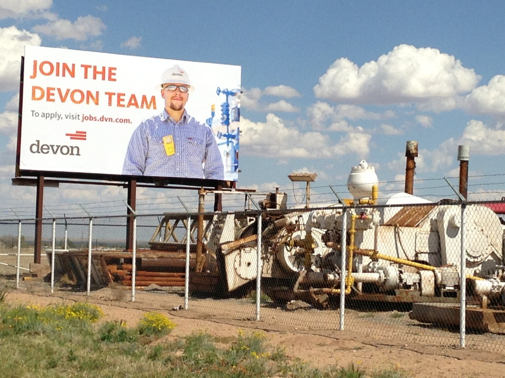 Industry giants have these recruiting billboards scattered across southeast New Mexico.