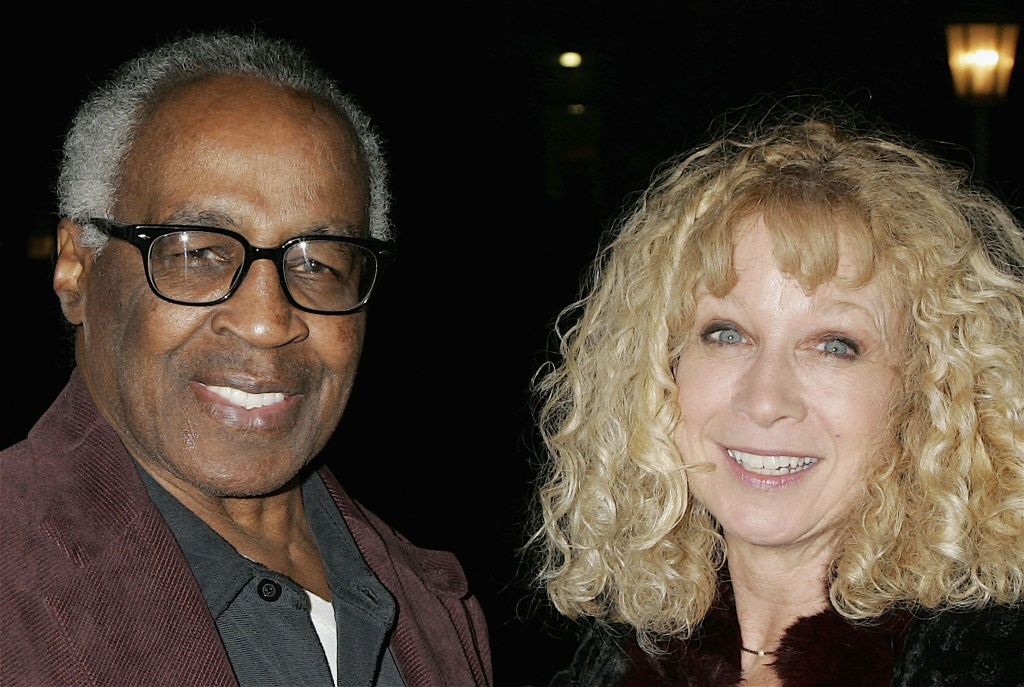 Actor Robert Guillaume and  co-director Murphy Cross pose at the opening night of