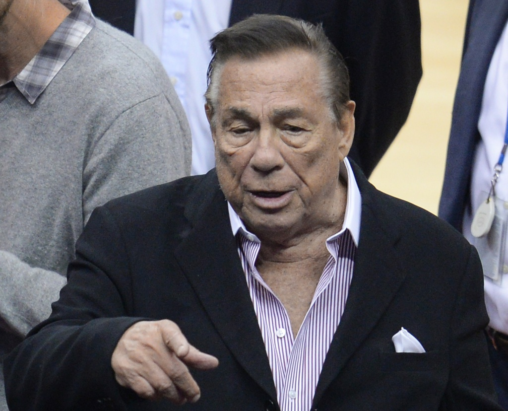 Los Angeles Clippers owner Donald Sterling attends the NBA playoff game between the Clippers and the Golden State Warriors, April 21, 2014 at Staples Center in Los Angeles, California. NBA Commissioner Adam Silver said April 26 that the NBA is investigating Sterling for alleged racist comments