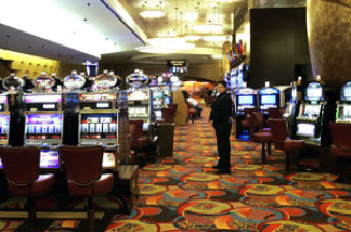 One of the slot machine rooms at the MGM Grand Hotel, which is part of the Foxwoods Resort Casino in in Mashantucket, Conn. Foxwoods is one of the few casinos to recognize union contracts.