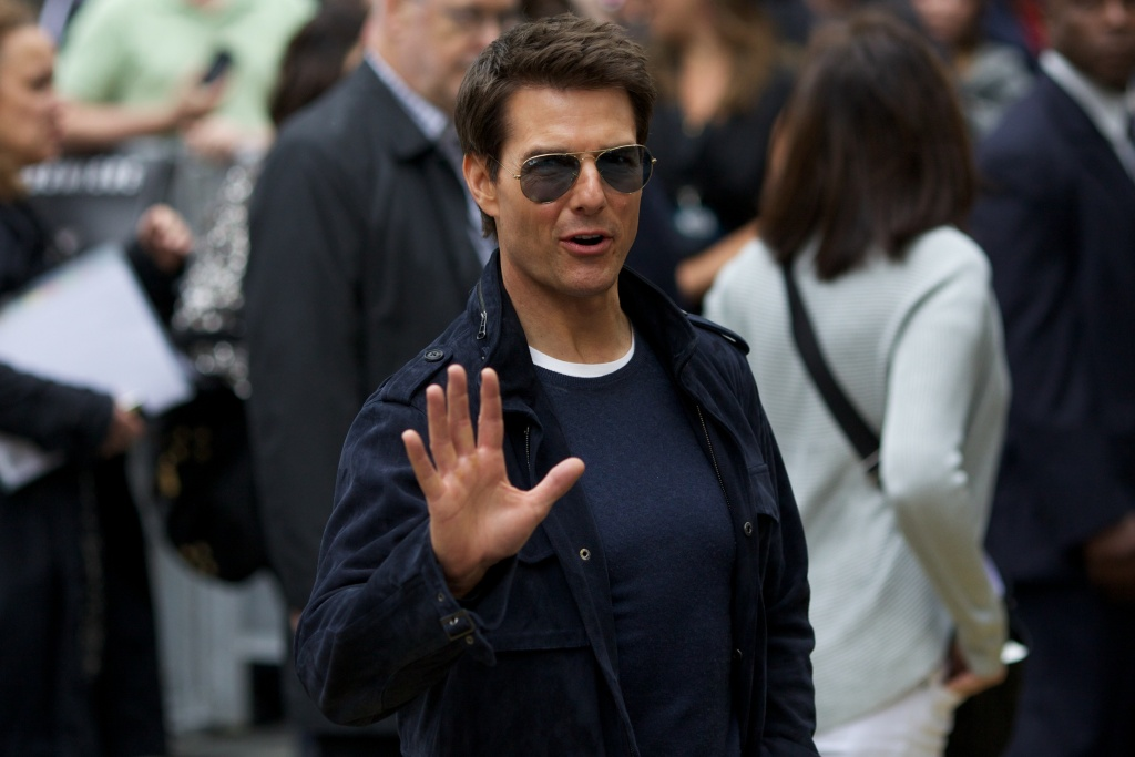 US actor Tom Cruise arrives for the European premiere of the film 'Rock of ages' at the Odeon Cinema in Leicester Square in London, on June 10, 2012.