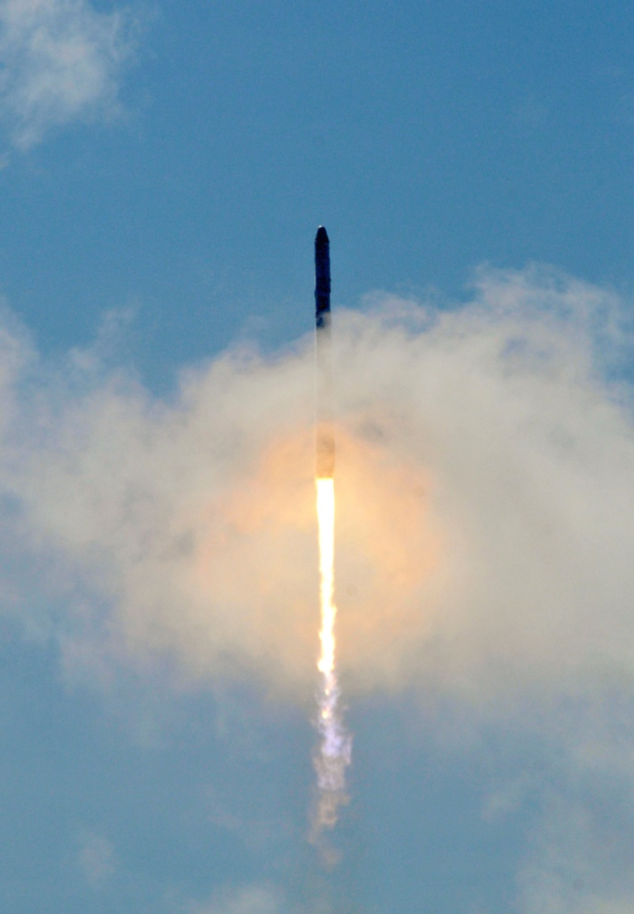 Space X's Falcon 9 rocket as it lifts off from space launch complex 40 at Cape Canaveral, Florida June 28, 2015 with a Dragon CRS7 spacecraft.  The unmanned SpaceX Falcon 9 rocket exploded minutes after liftoff from Cape Canaveral, Florida, following what was meant to be a routine cargo mission to the International Space Station.