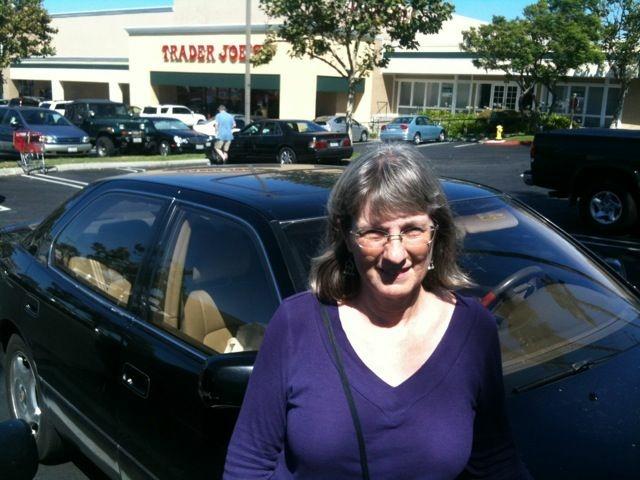 Debra Shrader at her neighborhood Trader Joe's