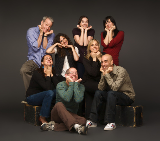 The Groundlings Main Company publicity shots, for show opening May 2008.