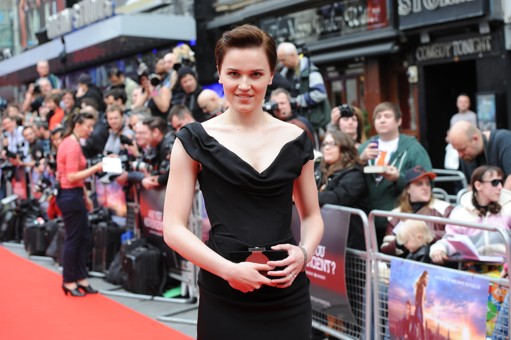 Veronica Roth attends the European premiere of