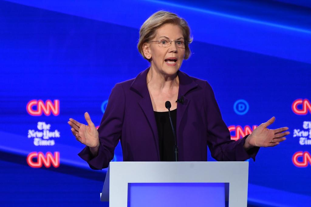 Democratic presidential candidate Massachusetts Senator Elizabeth Warren speaks during the fourth Democratic primary debate of the 2020 presidential campaign season.