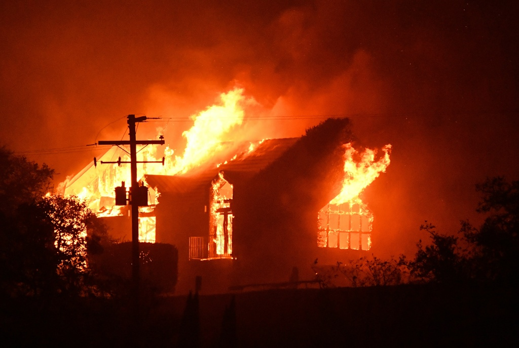 The Signorello Estate winery in Napa, California burns on October 9, 2017.
