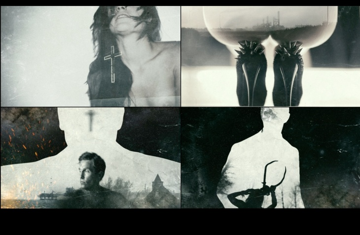 Images used in the pitch for the opening title sequence of