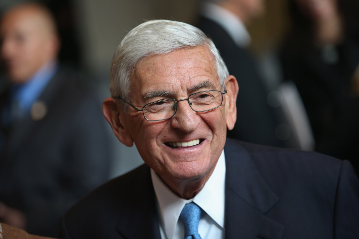 Philanthropist Eli Broad attends a ceremony where the Broad Prize for Urban Education was awarded Miami-Dade County Public Schools on October 23, 2012 in New York City.