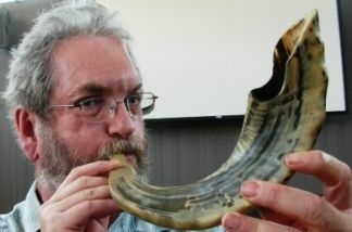 "Michael Chusid, a shofar ""master blaster,"" has taught many people to blow the ram's horn."