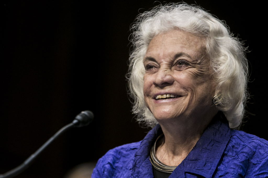 Former Supreme Court Justice Sandra Day O'Connor testifies before the Senate Judiciary Committee on July 25, 2012 in Washington, DC.