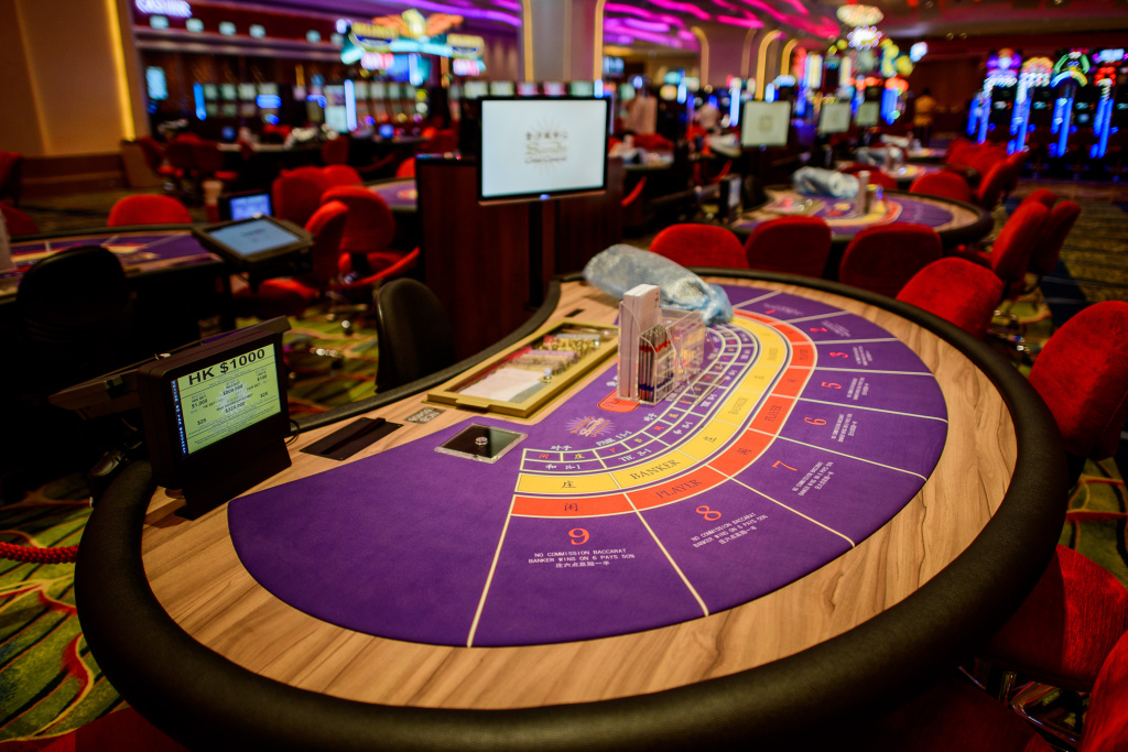 File: This picture taken on Sept. 19, 2012 shows the interior of the Cotai Sands casino in Macau.