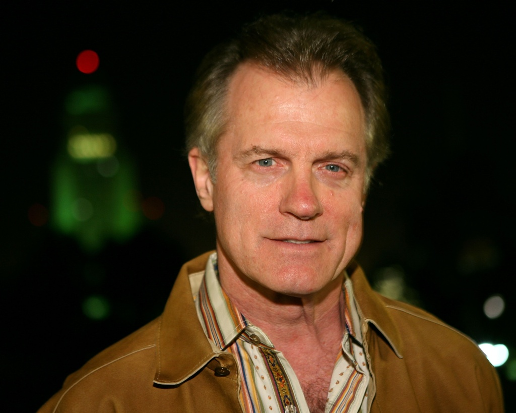 Actor Stephen Collins poses in front of City Hall at the kick off of