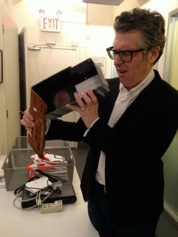 Host Ira Glass celebrates the