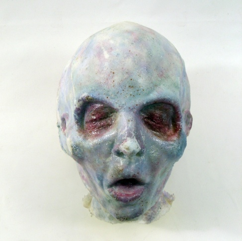A mask from the show 'The X-Files.'