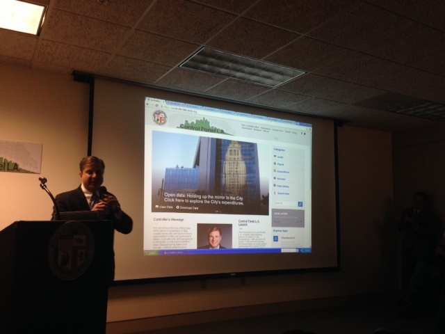 City Controller Ron Galperin shows off a new website that opens L.A's financial records to the public.
