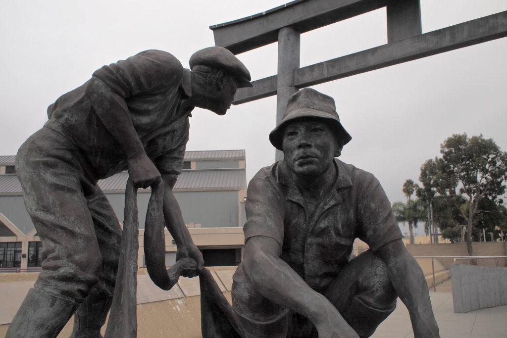 The Japanese-American memorial on Terminal Island.