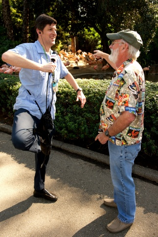 KPCC's John Rabe with former LA Zoo curator Mike Dee. On February 8th, as part of its
