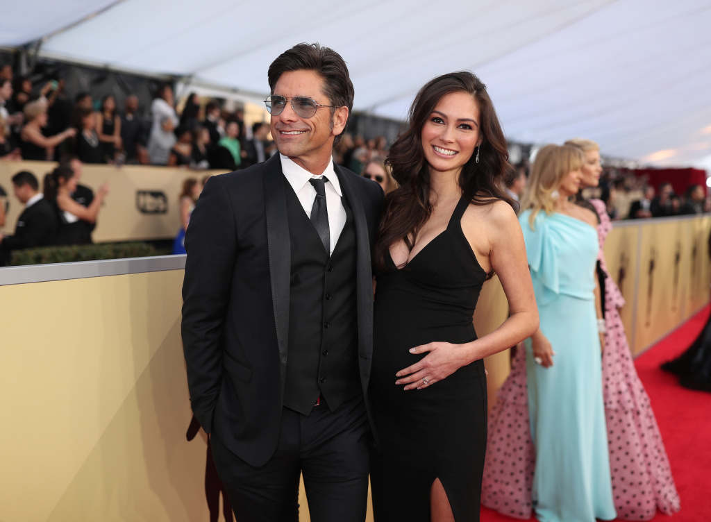 John Stamos and Caitlin McHugh attend the 24th Annual Screen Actors Guild Awards at The Shrine Auditorium on January 21, 2018 in Los Angeles, California.