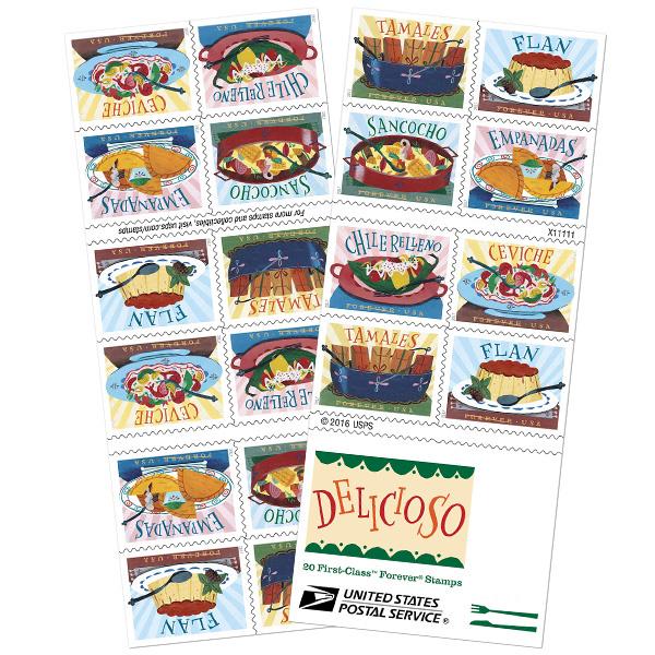 Delicioso Forever stamp line.