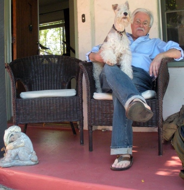 Van Dyke Parks holding his companion, Jubal Early.