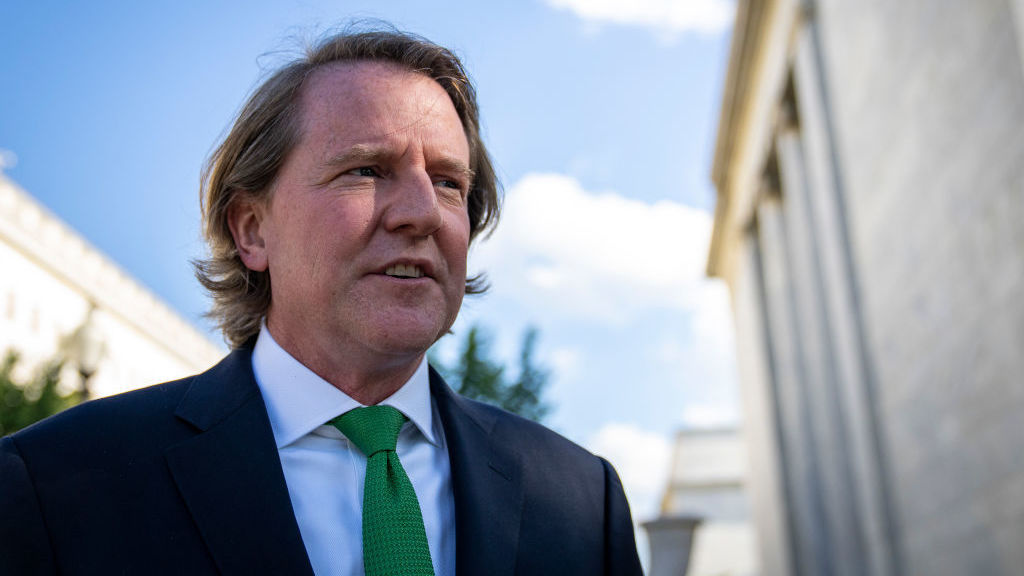 Former White House counsel Don McGahn leaves Capitol Hill after closed-door meeting with the House Judiciary Committee on June 4. McGahn, a witness in special counsel Robert Muellers investigation, was first subpoenaed by the committee two years ago but was blocked from appearing by the White House.