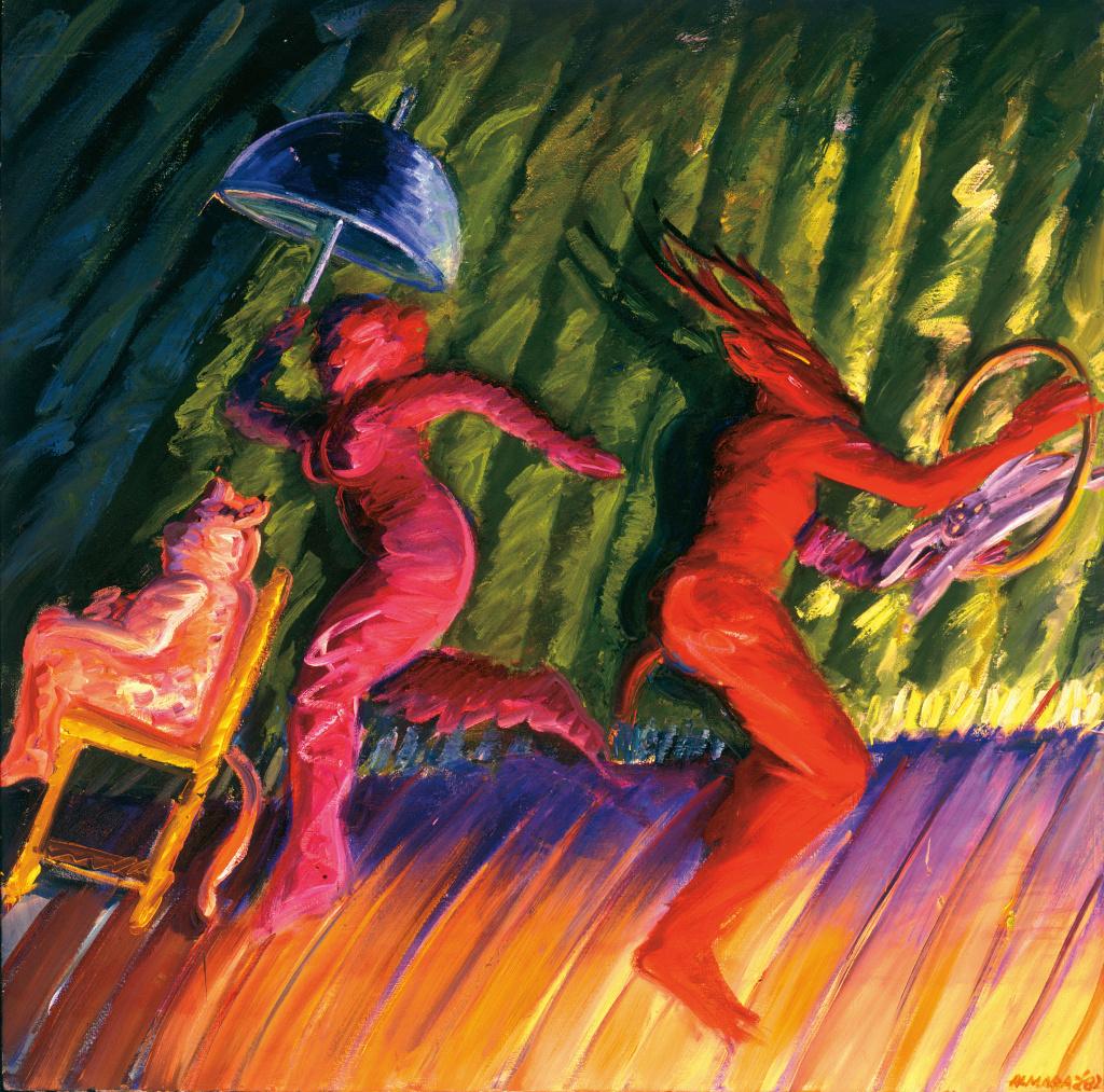 Carlos Almaraz, Magic Green Stage, 1982, The Buck Collection through the University of California, Irvine