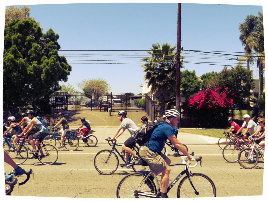 Riders at a CicLAvia event in 2013.