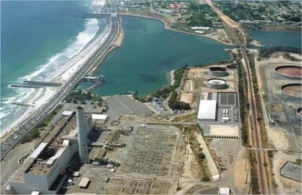 A rendering of the Carlsbad Desalination Project Site at Encina Power Station.