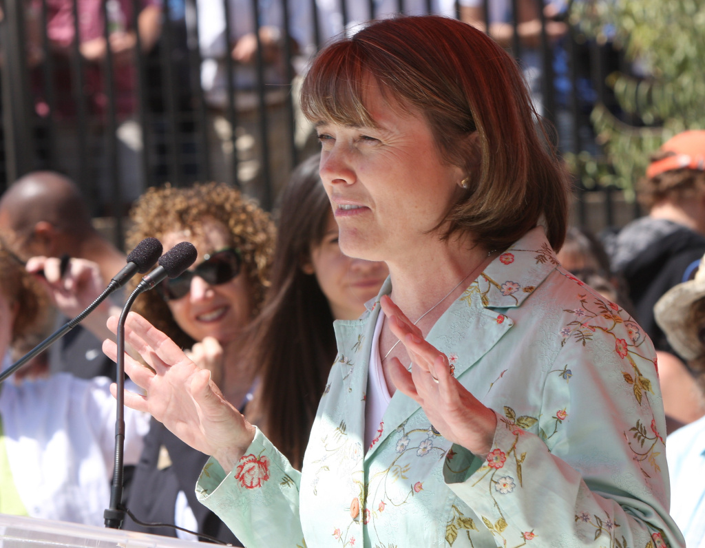 State Parks director Ruth Coleman speaks at the grand opening of the Annenberg Community Beach House at Santa Monica State Beach on April 25, 2009 in Santa Monica, California.