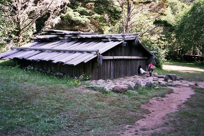 Yurok village at Patrick's Point State Park