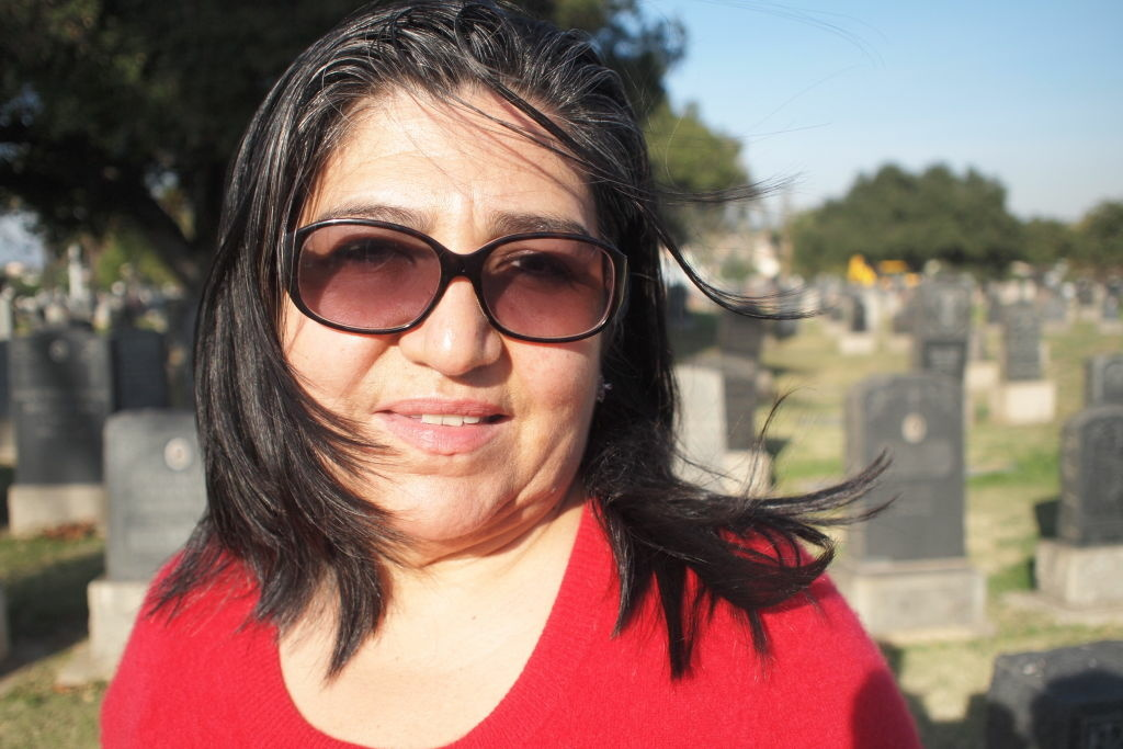 Pacific Standard Time artist Linda Vallejo at Boyle Heights' Evergreen Cemetery