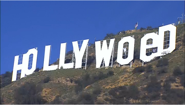 A screenshot from the Hollywood Sign Trust's live webcams showed the sign being restored after it was altered to read