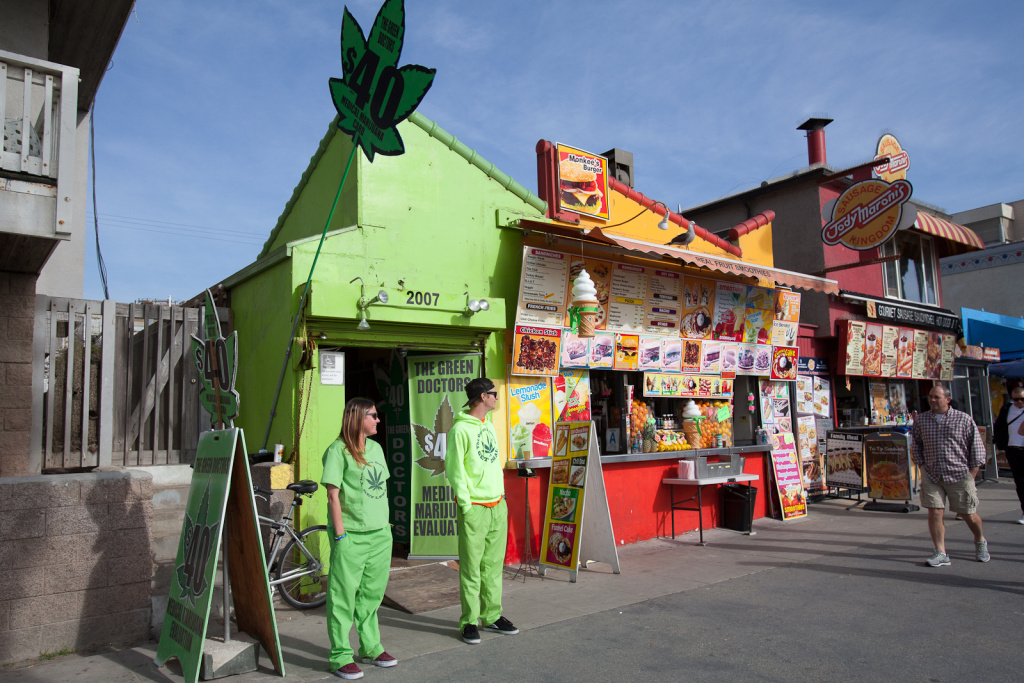 California's Supreme Court is taking up a case that could affect how local governments regulate marijuana dispensaries such as The Green Doctors in Venice Beach.
