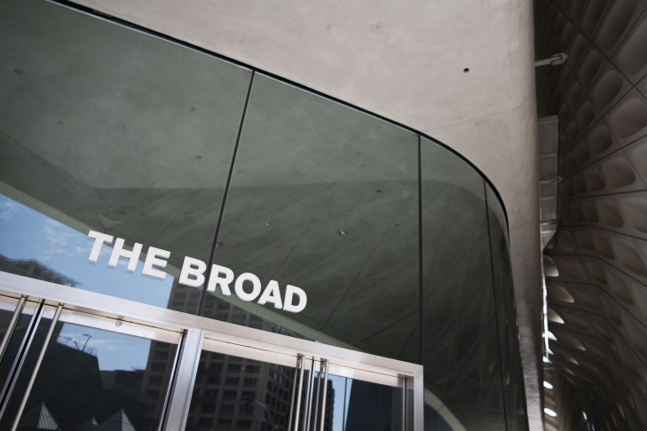 The Broad opens to the public on Sept. 20. The museum was built to house the contemporary art collection of Eli and Edythe Broad.