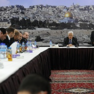 Palestinian President Mahmoud Abbas Meets A Delegation Of The Palestinian Leadership