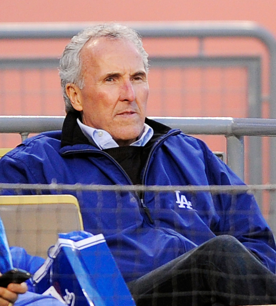 Frank McCourt at Dodger Stadium. The Dodgers bankruptcy hearing has been postponed until Nov.29.