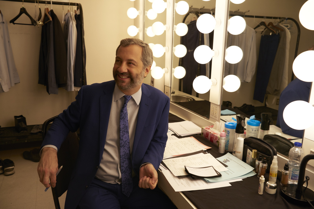 Judd Apatow backstage at his comedy special,