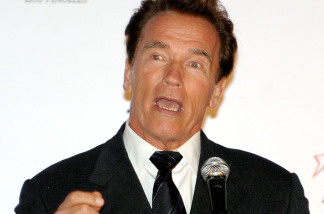 California Governor Arnold Schwarzenegger on January 13, 2010 in Los Angeles, California.